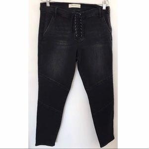 GAP Moto Jeans Washed Black Sz 32 NWOT